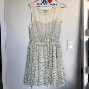 Lark & Wolff Polka Dotted Pleated Dress