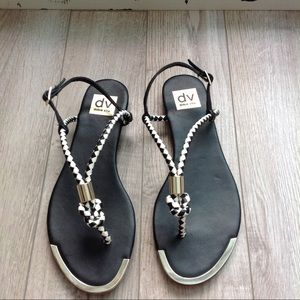 Dolce Vita black and white sandals