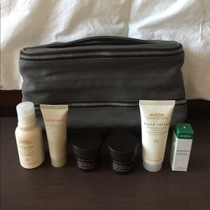 Other - Men's Aveda shaving bag and 6 piece sample set
