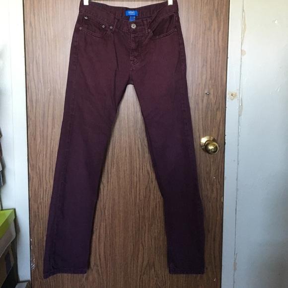 adidas jeans maroon