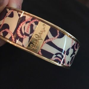 Authentic Lilly Pulitzer Anchor Bangle Bracelet