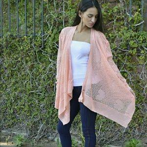 Crochet Heart Shrug/Kimono