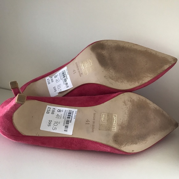 Topshop Shoes - TOPSHOP Women's Pink Golden Mid Heel Court Shoes
