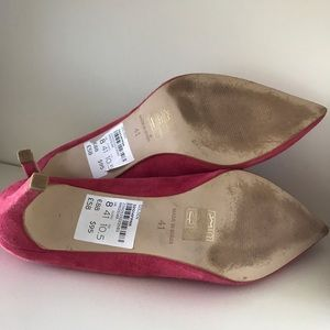 Topshop Shoes - TOPSHOP Women's Pink Golden Mid Heel Court Shoes