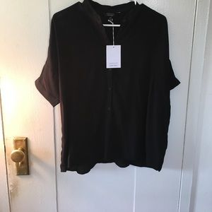 Other Stories Black Oversized Button Down Size US6