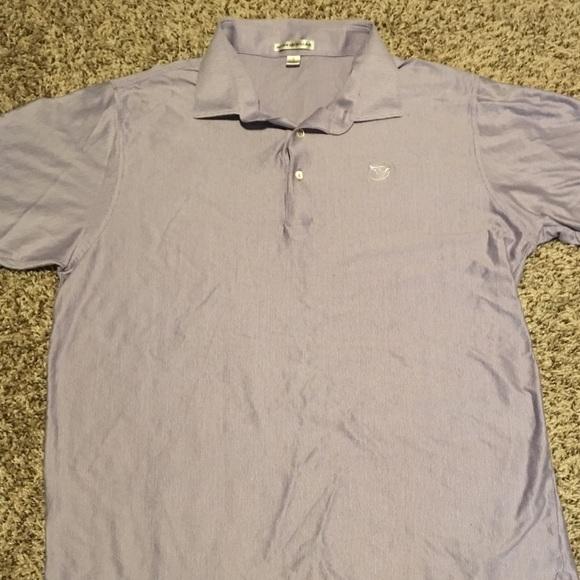 Peter millar peter millar golf shirt size large euc for Peter millar golf shirts