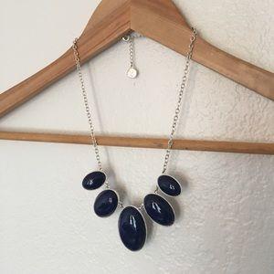 Blue Oval Statement Necklace