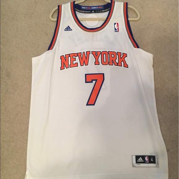 52ccd365 adidas Shirts | Carmelo Anthony White Xl Knicks Swingman Jersey ...