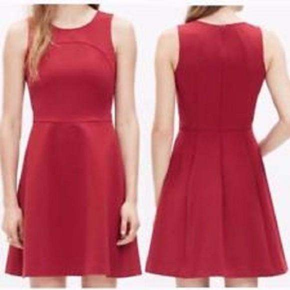 Madewell Red Maroon Adore Sheath Dress