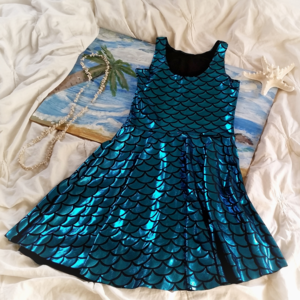 Dresses & Skirts - Aqua Mermaid Skater Dress