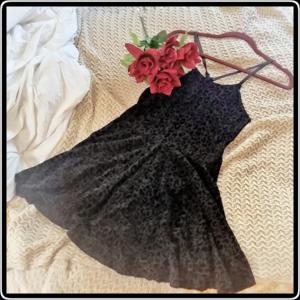 Dresses & Skirts - Black Cheetah Print Skater Dress