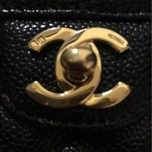 CHANEL Bags   East West Black Caviar Leather   Poshmark cb7ff573b93