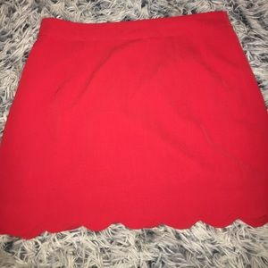 Dresses & Skirts - Red scallop mini skirt