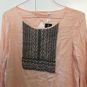 Tops - Pink Bell-Sleeve Tunic