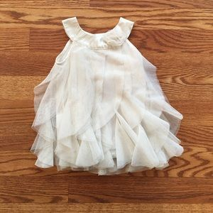 Other - Infant Cream Tulle dress with Gold Sparkles