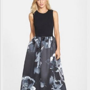 Aidan matrix floral printed gown