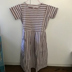 Dresses & Skirts - Purple and White Striped Dress