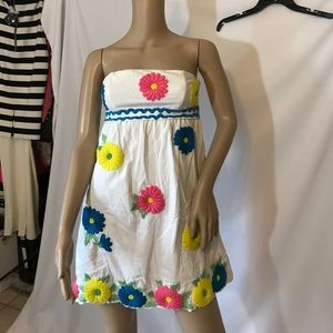 Tibi Embroidered casual dress