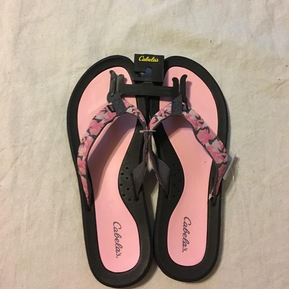 Cabela S Shoes Womens Cabelas Pink Camo Flip Flops