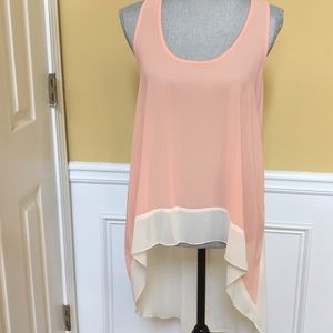 Peach and Ivory High-low Top