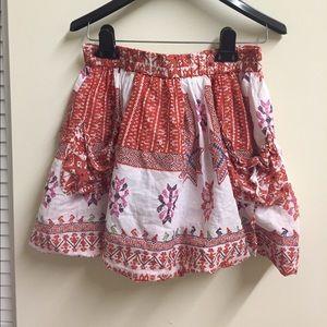 Dresses & Skirts - Burnt orange Boutique skirt with pockets size 27/S