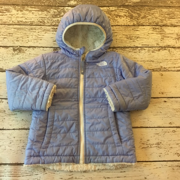 d2e4a2101 The North Face Periwinkle Reversible Moss Bud Coat