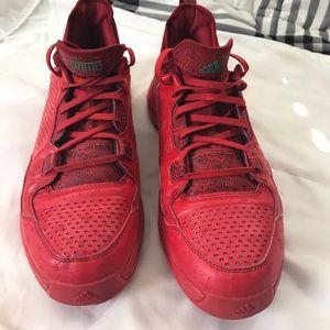 newest 42ba1 6cd14 adidas Shoes - Adidas D Lillard 1 Rose City Red Floral