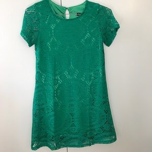 Dresses & Skirts - Green Lace Dress