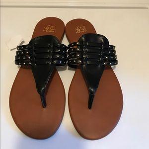 Montego Bay Black Summer Sandals. Size 9