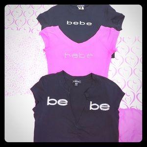 """""""2 Day Sale"""" Bebe Logo Tee Bundle"""