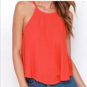 Tops - Breezy coral Plus Sized tank. Size 3X