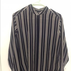 Madewell Striped Silk top