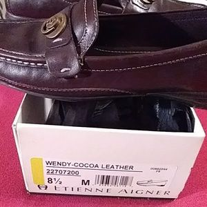 Etienne Aigner leather loafers