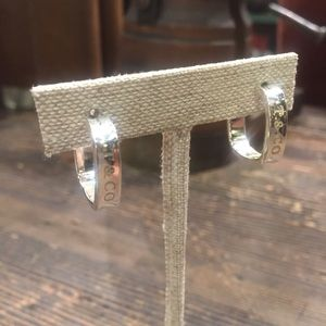 ecc6e4bf03457 Tiffany & Co silver square 1837 hoop earring