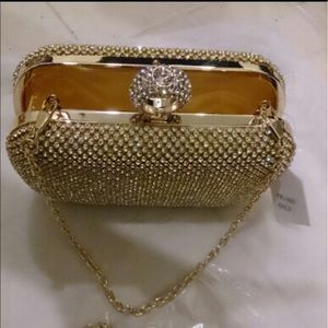 Handbags - 🎉Just In🎉Simulated Diamond Studded Clutch