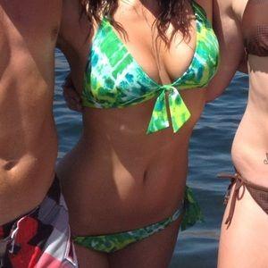 Blue Green Tie Dye Victoria's Secret Bikini