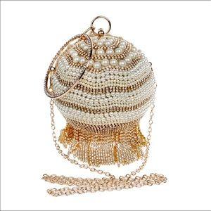 Handbags - 🎉Simulated Pearl, Diamond, Rhinestones,Tassel bag