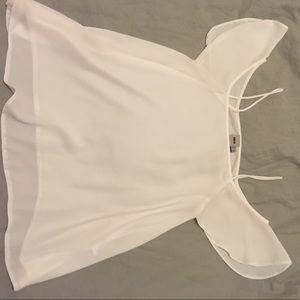 White off the shoulder asos blouse