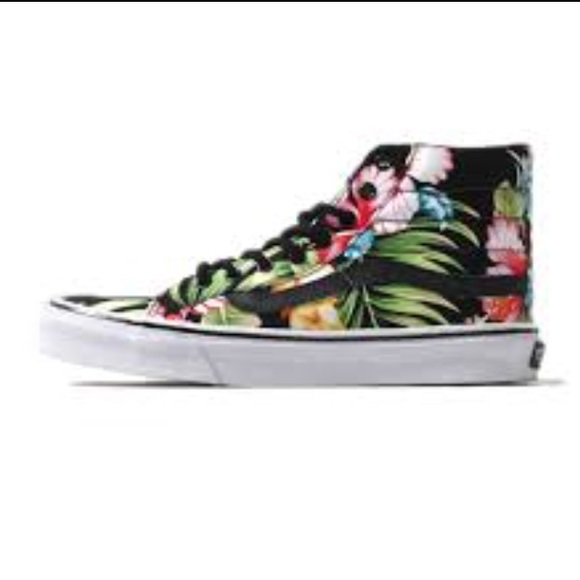 Vans Hibiscus Flower High Top Sneaker 75