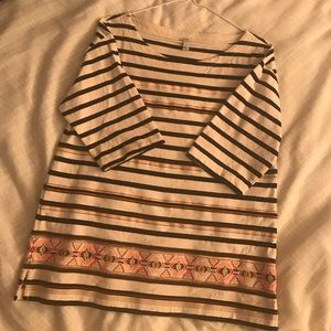 J Crew Aztec Striped Shirt