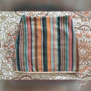 FINAL DROP! H&M Multicolored Striped Mini Skirt