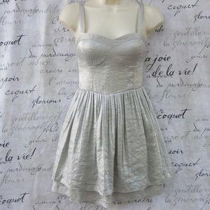 Silver Metallic Forever 21 Dress