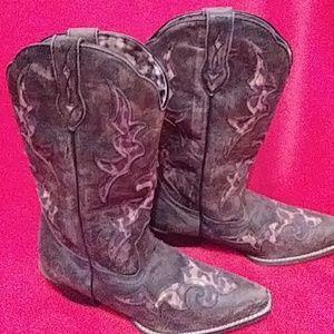 Leredo brand leather cow girl boots