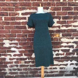 Ivanka Trump L Teal Jersey Knit Shift Dress Career