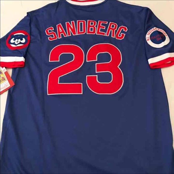 official photos ea063 5c698 Cubs 1984 Ryne Sandberg Mitchell & Ness jersey M NWT