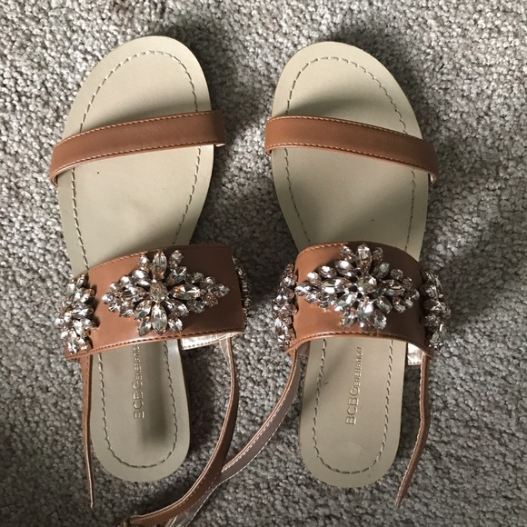 714c0738f92a BCBGeneration Shoes - Size 6.5 BCBG Generation Jeweled brown sandals