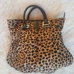 ❤Charles Jourdan cheetah tote