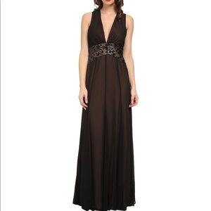 Bcbg maxazria stacy v neck gown