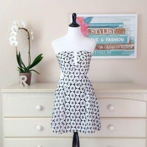 ❤️ Floral Crochet Strapless Dress