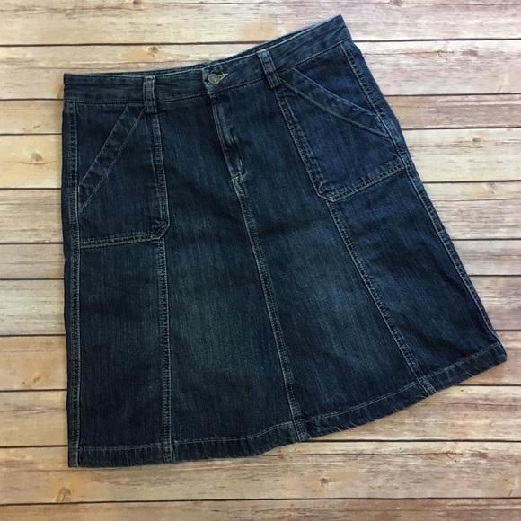 eddie bauer eddie bauer denim a line skirt from